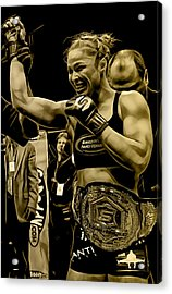 Ronda Rousey Fighter Acrylic Print by Marvin Blaine