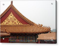 Roof Forbidden City Beijing China Acrylic Print