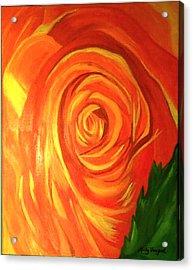 Rose Acrylic Print by Misty VanPool