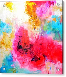 Roses In The Sky Acrylic Print by Ivan Guaderrama