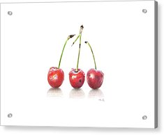 Three Sours Cherries Acrylic Print