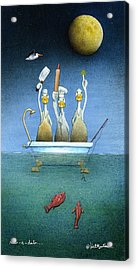 Acrylic Print featuring the painting Rub-a-dub... by Will Bullas