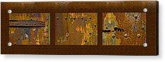 Rust Triptych Acrylic Print by Gary LaComa
