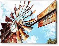 Rusted Windmill Acrylic Print