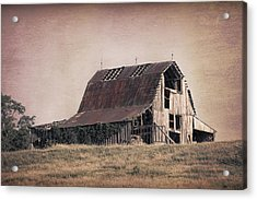 Rustic Barn Acrylic Print by Tom Mc Nemar