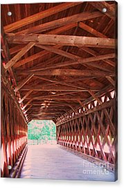 Sachs Bridge Acrylic Print by Eric  Schiabor