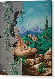 Safitri Acrylic Print by David  Larcom
