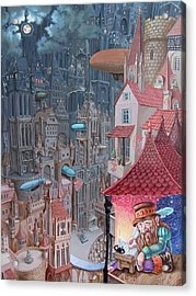 Saga Of The City Of Zeppelins Acrylic Print