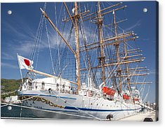 Acrylic Print featuring the photograph Sail Training Ship Nippon Maru by Aiolos Greek Collections