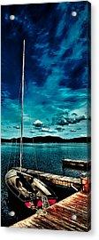 Sailboat At The Dock Acrylic Print by David Patterson