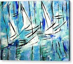 Sailing Blue Acrylic Print