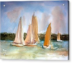 Sailing  Acrylic Print by Julie Lueders
