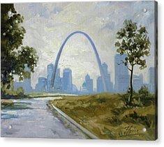 Saint Louis Panorama Acrylic Print