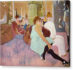 Salon In The Rue Des Moulins  Acrylic Print