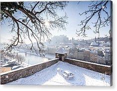 Salzburg Winter Dreams Acrylic Print by JR Photography