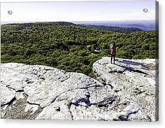Sams Point Overlook Acrylic Print by Fran Gallogly