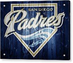 San Diego Padres Barn Door Acrylic Print by Dan Sproul