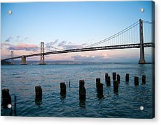 San Francisco Bay Bridge Acrylic Print by Mandy Wiltse