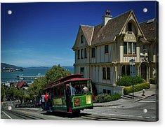 San Francisco Cable Car Acrylic Print by Mountain Dreams