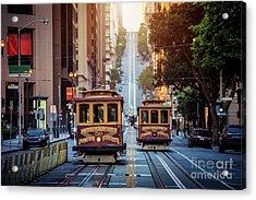 San Francisco Cable Cars Acrylic Print by JR Photography
