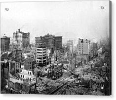 San Francisco Earthquake Aftermath - 1906 Acrylic Print