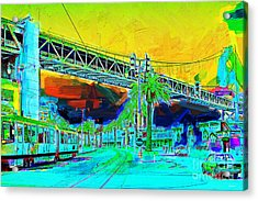 San Francisco Embarcadero And The Bay Bridge Acrylic Print