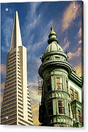 San Francisco Then And Now Acrylic Print