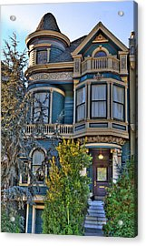 San Francisco Victorian Acrylic Print by Paul Owen