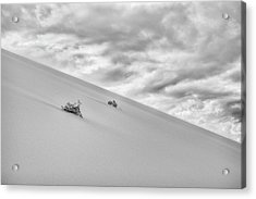 Acrylic Print featuring the photograph Sand And Clouds by Hitendra SINKAR