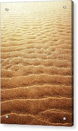 Sand Background Acrylic Print by Carlos Caetano