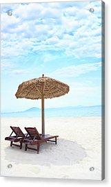 Sandy Tropical Beach Acrylic Print