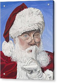 Santa Claus Acrylic Print by Patty Vicknair