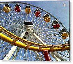 Santa Monica Pier Amusement Park Acrylic Print