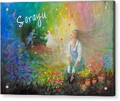Sarayu Acrylic Print by Janet McGrath