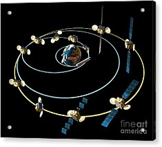 Satellite Launch Sequence Diagram Acrylic Print