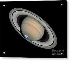 Saturns Dynamic Aurora Acrylic Print