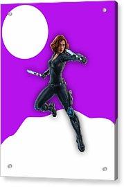 Scarlett Johansson Black Widow Acrylic Print by Marvin Blaine