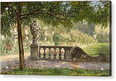 Scene From The Mirabell Park Acrylic Print by Luise Begas