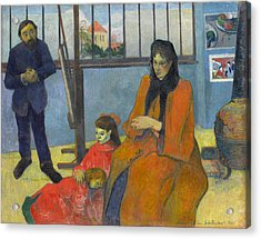Schuffenecker's Studio Acrylic Print by Paul Gauguin