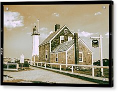 Acrylic Print featuring the photograph Scituate Lighthouse In Scituate, Ma by Peter Ciro
