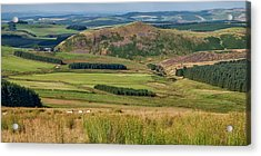 Scotland View From The English Borders Acrylic Print by Jeremy Lavender Photography