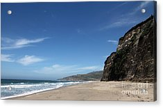 Scott Creek Beach California Usa Acrylic Print by Amanda Barcon