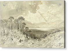 Scottish Landscape Acrylic Print by Gustave Dore