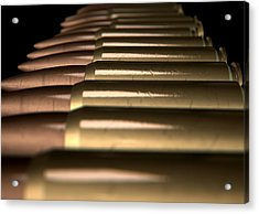Scratched Bullet Row Acrylic Print by Allan Swart