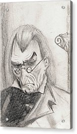 Acrylic Print featuring the drawing Scrooge by Michael McKenzie