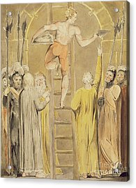 Sealing The Stone And Setting A Watch Acrylic Print by William Blake