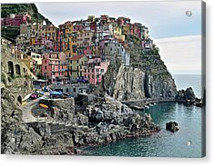 Acrylic Print featuring the photograph Seaside Village by Frozen in Time Fine Art Photography