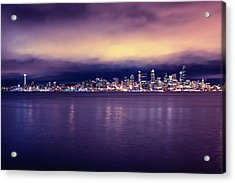 Seattle From Alki Acrylic Print by Tanya Harrison