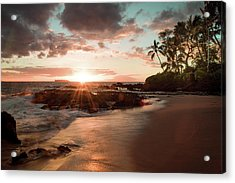 Secret Beach Maui Acrylic Print by Seascaping Photography