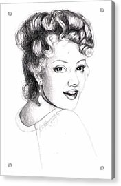 Self Portrait Acrylic Print by Scarlett Royal